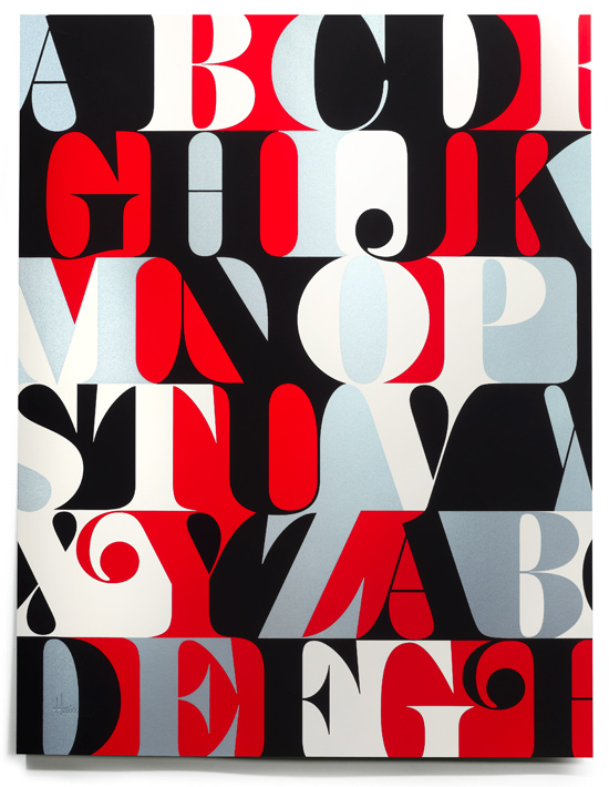 House Industries Caslon Alphabet Print